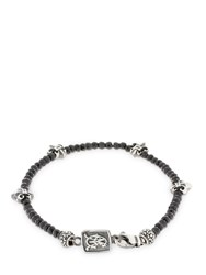 Cantini Mc Firenze Black Fleur De Lis Beaded Bracelet