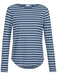 Fat Face Breton Stripe Top Chambray