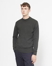 The Idle Man Knitted Turtle Neck Jumper Green