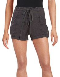 Blank Nyc Linen Drawstring Shorts Doing Time