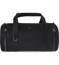 Mulberry Round Ended Leather Holdall Black