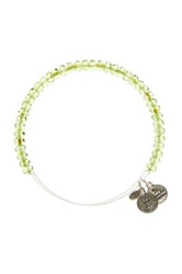 Alex And Ani Luminary Glass Bead Wire Bracelet Green