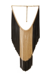 Forever 21 Two Tone Hanging Chain Necklace