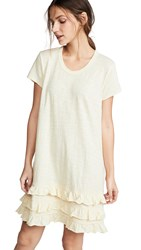 Wilt Tee Dress With Lace Ruffle Trim Butter