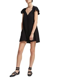 French Connection Draped Romper Black
