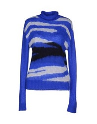 Space Style Concept Turtlenecks Bright Blue