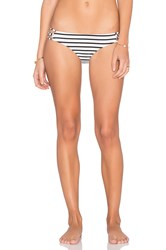 Amuse Society Serena Stripe Bikini Bottom Black And White