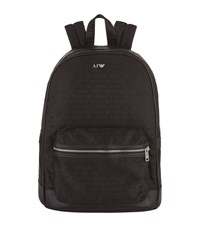 Armani Jeans Casual Logo Backpack Unisex Black