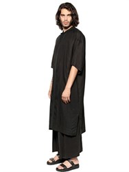 Tom Rebl Oversized Linen Shirting Long Shirt