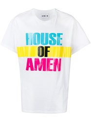 Amen Logo Colour Block T Shirt White