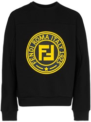 Fendi Roma 1925 Logo Sweatshirt Black