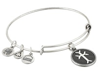 Alex And Ani Armenian Cross Charm Bangle Ii Rafaelian Silver Finish Bracelet