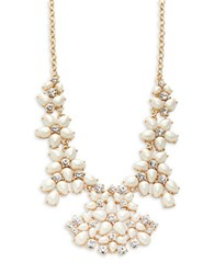 Kate Spade Faux Pearl And Crystal Collar Necklace Gold