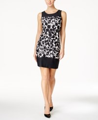 Charter Club Petite Floral Print Shift Dress Only At Macy's Deep Black Combo
