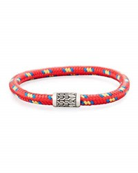 John Hardy Men's Classic Chain Multicolor Cord Bracelet Red