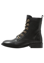 Supertrash Melody Laceup Boots Black