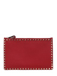 Valentino Medium Rockstud Grained Leather Pouch