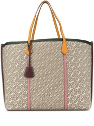Tory Burch Perry Jacquard Oversized Tote Bag Grey