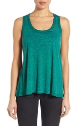Bobeau Women's Racerback Keyhole Burnout Knit Tank Green Golf