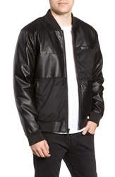 Members Only Patchwork Bomber Jacket Black