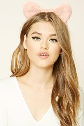 Forever 21 Faux Fur Cat Ears Headband Pink
