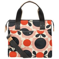 Orla Kiely Scallop Flowers Zip Messenger Bag Pink Multi