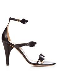 Chloe Mike Leather Sandals Black