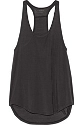 Yummie Tummie By Heather Thomson Nadia Ribbed Stretch Micro Modal Tank Black