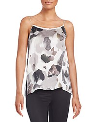 Helmut Lang Printed Silk Camisole White Multi