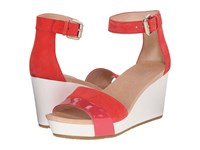 Dr. Scholl's Warner Original Collection Flame Suede Women's Wedge Shoes Pink