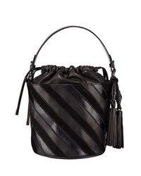 Rafe Katrina Striped Bucket Bag Black Pattern