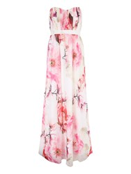 Jane Norman Floral Maxi Dress With Detachable Straps Multi Coloured Multi Coloured
