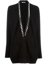 Givenchy Chain Trim Cardigan Black
