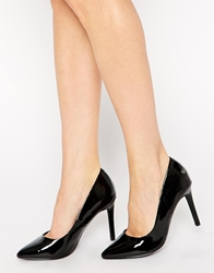 Blink Patent Heeled Court Shoes Black