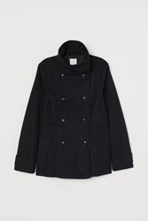 Handm H M Double Breasted Jacket Black