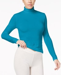 Cuddl Duds Softwear Stretch Long Sleeve Turtleneck Algiers Blue