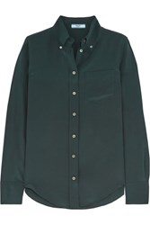 Prada Silk Crepe De Chine Shirt Emerald