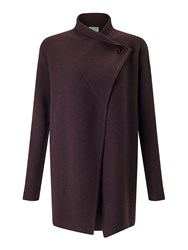 Jigsaw Ring Fastening Pique Cardigan Purple
