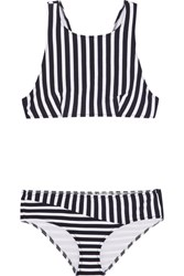 Araks Joy Millie Racer Back Striped Bikini Midnight Blue