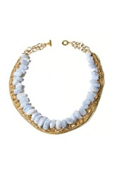 Janna Conner Fei Blue Lace Agate Necklace No Color