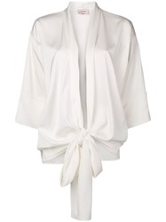 Murmur Oversized Bow Blouse White