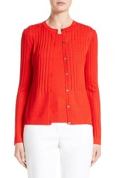 St. John Women's Collection Nitya Eyelet Knit Cardigan