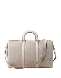 Michael Michael Kors Libby Large Perforated Leather Gym Bag Cement