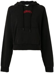Off White 'Nebraska' Hoodie Women Cotton Xs Black