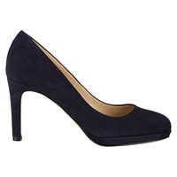 Hobbs Juliet Suede Court Shoes Navy