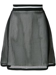 Boutique Moschino Layered Sheer A Line Skirt Black
