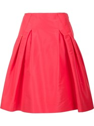 Carolina Herrera 'Faille Party' Skirt Red