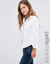 New Look Petite Tailored Shirt White