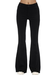 L'agence Solana Big Flared High Rise Jeans Black