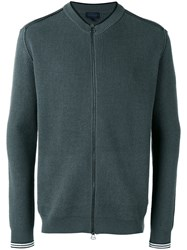 Lanvin Zip Up Knitted Sweater Green